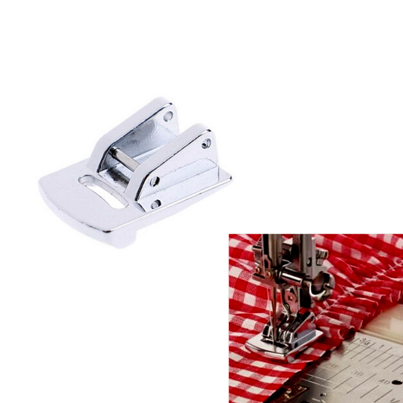 Sliver Rolled Hem Curling Presser Foot For Sewing Machine Singer Janome Sewing Accessories Hot Sale
