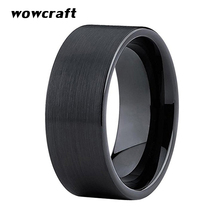 10mm Black Tungsten Wedding Ring for Men Brushed Finish Comfort Fit Engagement Band Rings with Flat Band цены онлайн