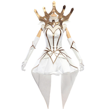 LUX Cosplay Luxanna Crownguard Costume LOL LUX Cosplay the Lady of Luminosity  Game White Elementalist  LOL Costume ASCOSING