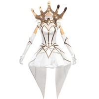 LUX Cosplay Luxanna Crownguard Costume LOL LUX Cosplay The Lady Of Luminosity Game White Elementalist LOL