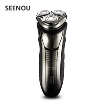 Electric Shaver For Man 4D Floating Men S Washable Rechargeable Rotary Electric Shavers Razor With Pop