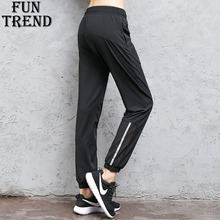 Women Sportswear Sport Pants Trousers Loose Reflective Yoga Running Top Gym Fitness Clothing Harem