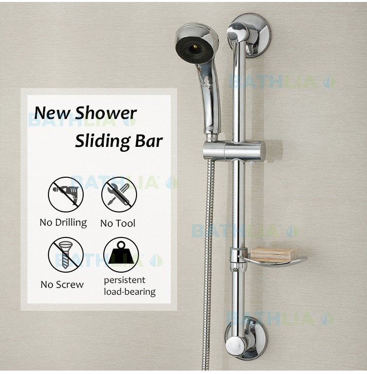 Stainless Steel Shower Sliding Bar Shower head rail slider holder ...