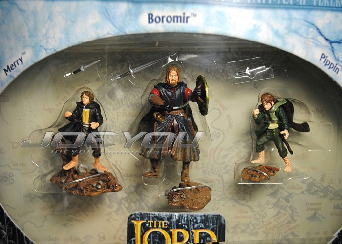 ФОТО Limited! 30*20CM High Classic Toy The Lord of the Rings Rohan Merry Boromir Pippin action figure Toys