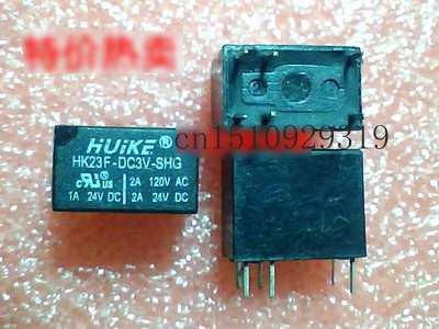 Pengiriman gratis 10 pcs/lot Relay sinyal HK23F-DC3V-SHG pembukaan dan penutupan enam kaki 2A bukan G5V-1-3VDC