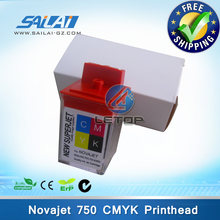 Gratis pengiriman!! 5 pcs per lot! encad novajet 750 printhead cartridge tinta cmyk(China)