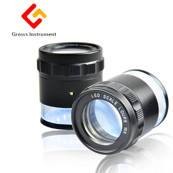 Monocular Magnifying Glass With Led Light Measuring 10X Jeweler Tool Eye Reading Magnifier Eyewear Different Lens Choices