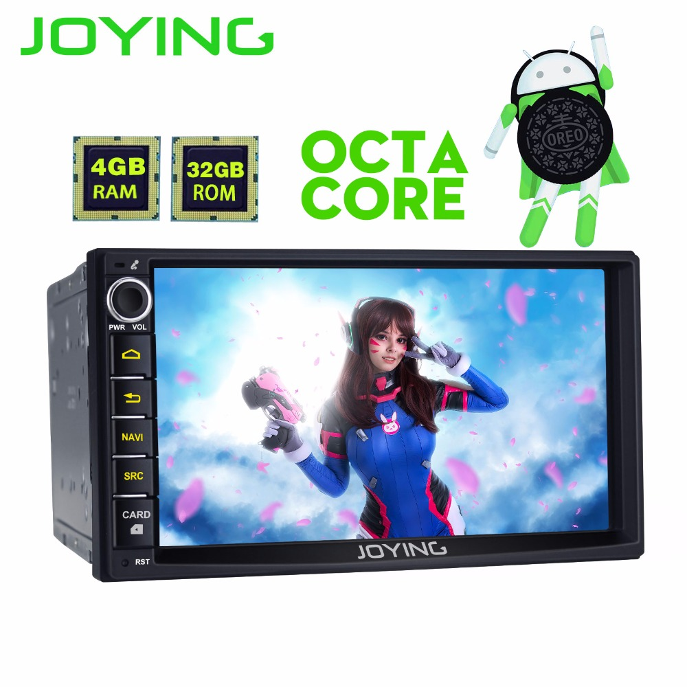 JOYING 2 din car radio HD 7'' Touch Screen 8 core PX5 4GB RAM Android 8.0 car stereo head unit FM AM RDS gps player with carplay