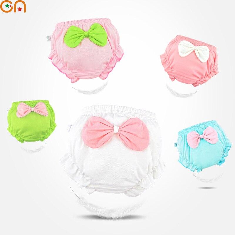 3 Stuk/partij Kids 100% Katoenen Ondergoed Meisje, Baby, Baby Leuke Grote Boog Shorts Voor Kinderen Fashion Hoogwaardige Slipje Geschenken Cn