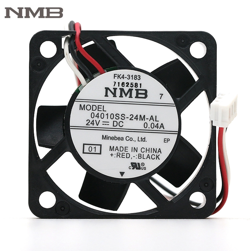 Original NMB 04010SS-24M-AL 4010 24V 0.04A 40mm 40*40*10mm silent quiet axial mini cooling fan high quality new ym1204pfb3 4010 4cm 12v 0 04a ultra quiet double ball bearing fan for first union 40 40 10mm