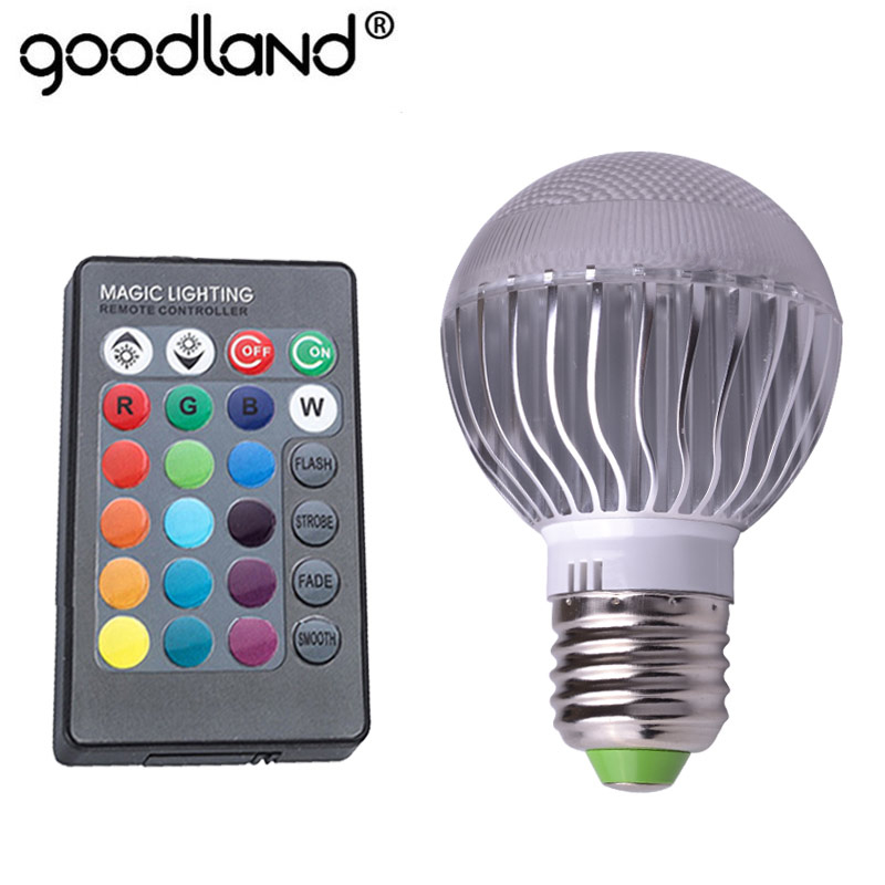 LED RGB Lampe 110 v 220 v E27 RGB Birne High Power Ampulle 16 Farbe Ändern 24key Fernbedienung Dimmbare für Home Dekoration