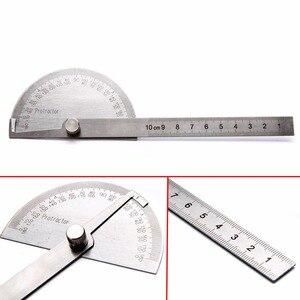 Image 2 - 1 adet 180 derece ayarlanabilir İletki açı bulucu açı cetvel yuvarlak kafa döner paslanmaz çelik ölçme aracı ağaç İşleme için