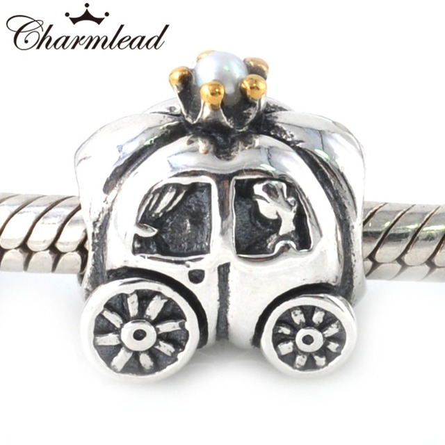 [Sponsored]Pumpkin Royal Carriage Charm Bracelet Bead - Sterling Silver 925 - Gift boxed 5Vy56Aiv
