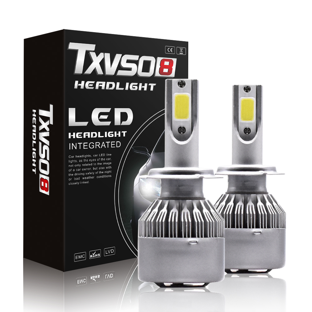 2PCS T2 H7 LED Car Headlight H4 LED Bulbs H1 H3 9005 HB3 9006 HB4 H8 H9 H11 <font><b>110W</b></font> 26000LM 6000K LED Lamp Headlight Bulbs Lamp image