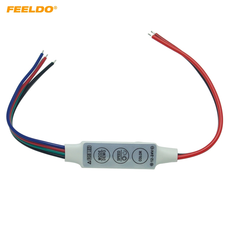 FEELDO 1Pc DC5V~24V LED Flasher Module Flash Strobe Controller With 4-Wire Connecotr For LED Strip Light #3965