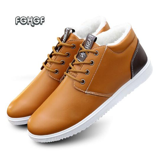 f59299d2f6 Sapatos de inverno Sapatos Masculinos Dos Homens Sapatos Casuais Homem  Sapatos de Couro Quentes Sapato Tenis Masculino Adulto Mocasines Hombre  Chaussures ...