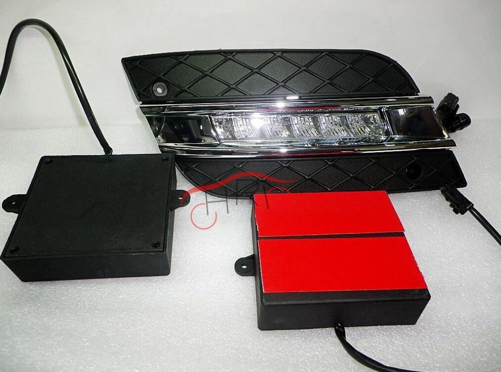 Driving Light Daytime Running Light Fog Lamp For W164 ML300 ML320 ML350 2010-2011 DRL 18pc canbus led lamp interior map light kit package for mercedes m class w164 ml320 ml350 ml420 ml450 ml63 amg 2006 2011