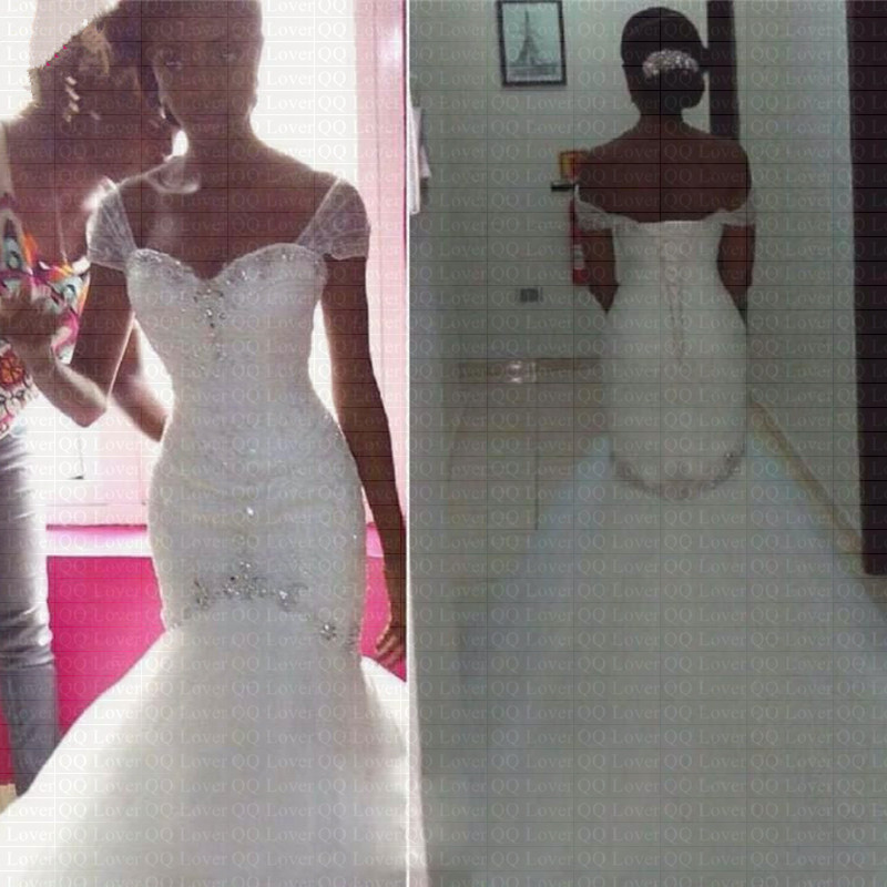 Wedding Gowns With Cap Sleeves: Aliexpress.com : Buy 2019 New African Charming Crystal