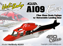 Pre Painted 450 size A109 A 109 Fiber Glass Fuselage with Retract System Coast Guard for