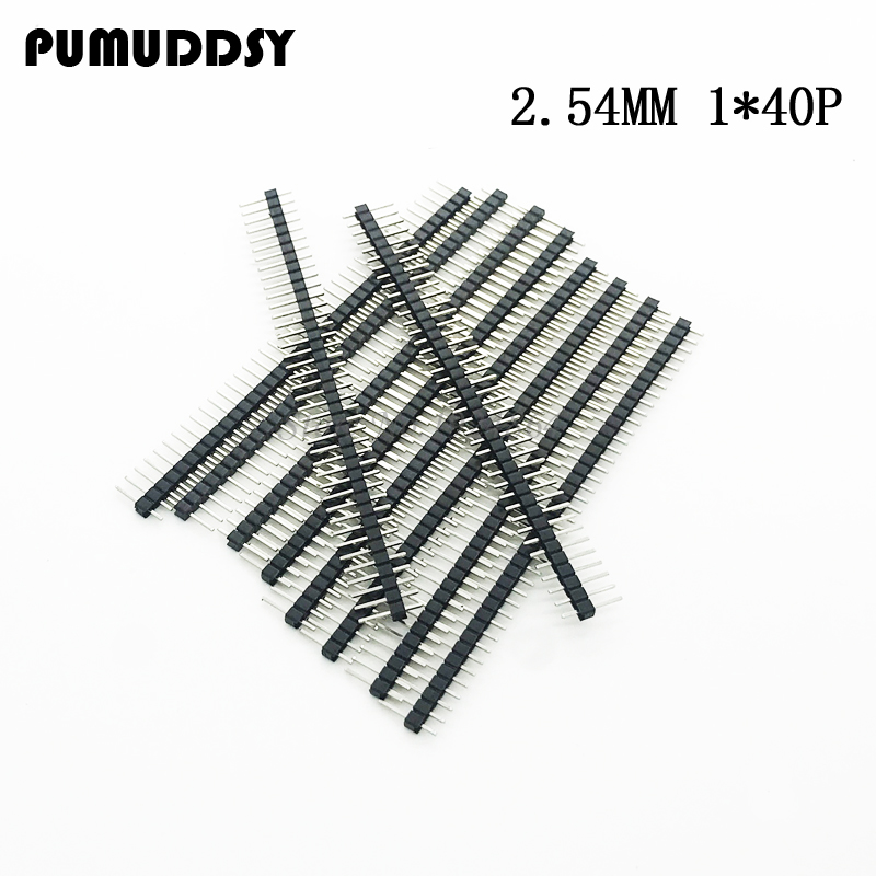 20pcs 40 Pin 1x40 2.54mm Single Row Male Breakable Pin Header Connector Strip20pcs 40 Pin 1x40 2.54mm Single Row Male Breakable Pin Header Connector Strip