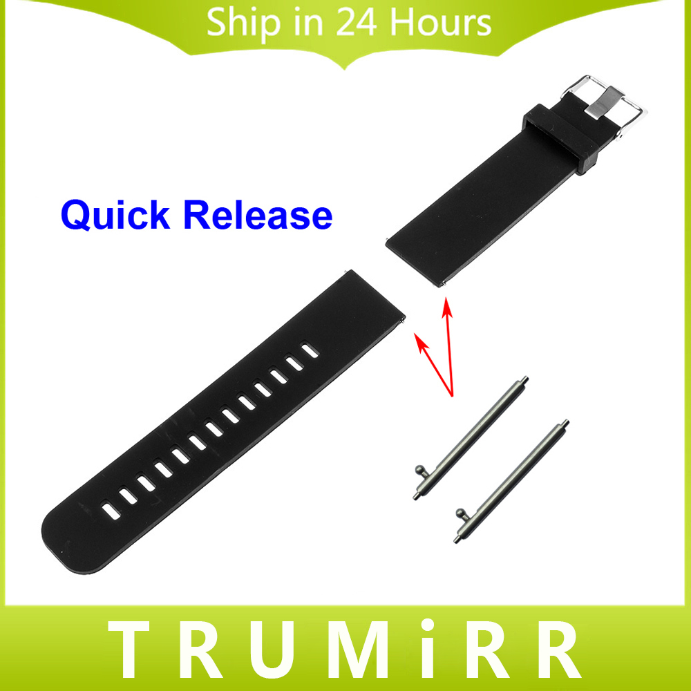 20mm Quick Release Watch Band Silicone Rubber for Samsung Gear S2 Classic R732 & R735 Moto 360 2 42mm Steel Buckle Band Bracelet ceramic stainless steel watch band 20mm for samsung gear s2 classic r732 r735 quick release strap butterfly buckle bracelet