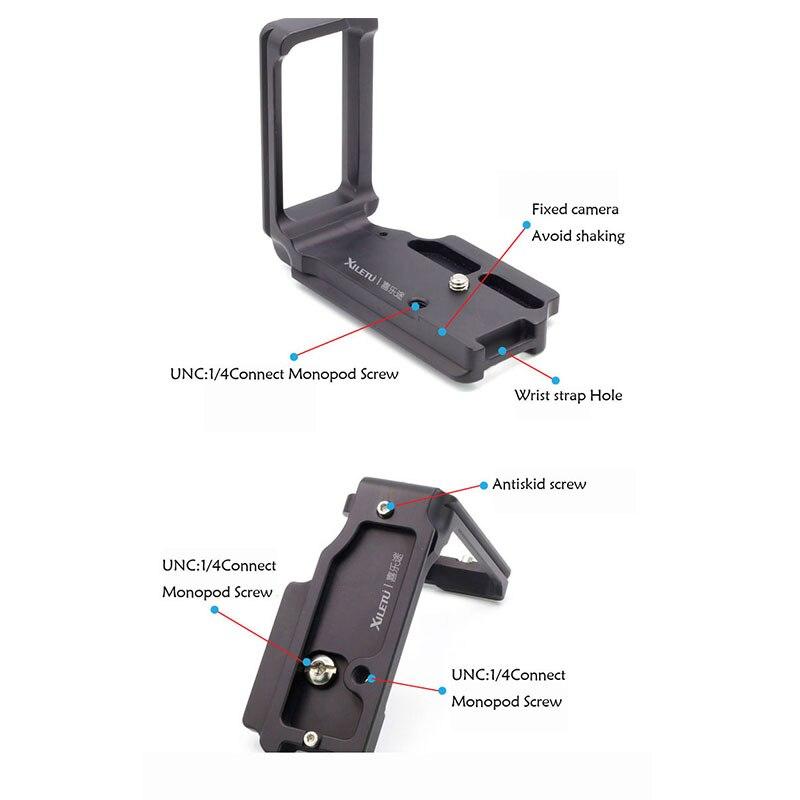 US $43 95 |Xiletu Black Metal LB D500L Universal Quick Release Plate with  1/4