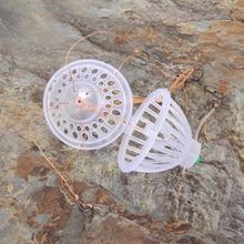 10pcs/Lot 6 Hooks Lantern Bait Case Barbed Explosion Fish Spherical Tackle Winter Carp Fly Fishing Lure Jig Feeder Spoon Hook