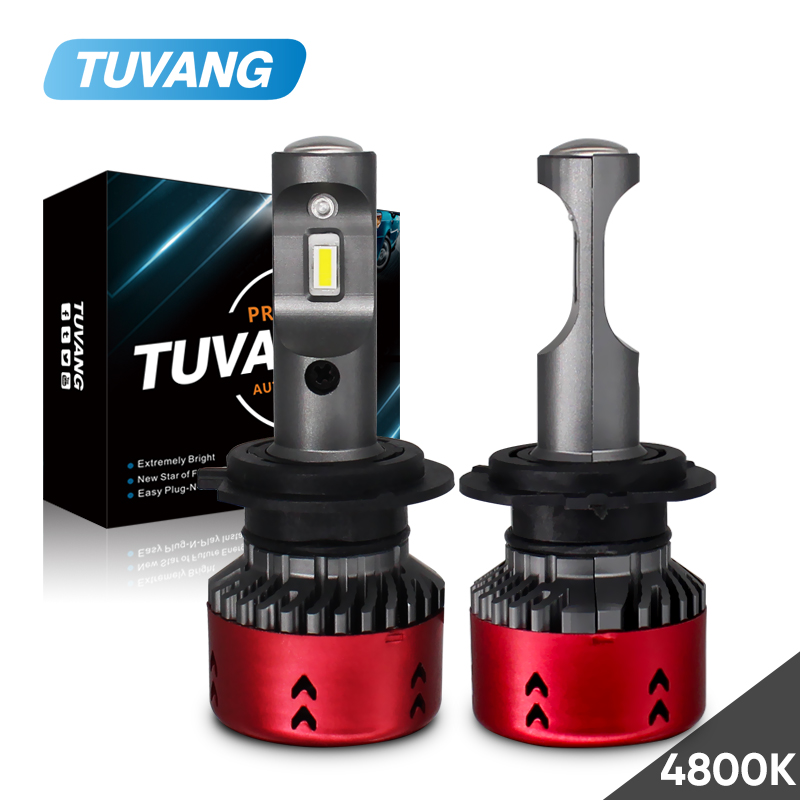 2x4800 karat H1 H3 H7 H8 H11 9005 9006 HB3 HB4 D1 D2 D3 D4 9600LM Led-lampe CSP Chips Auto Tagfahrlicht DRL Scheinwerfer