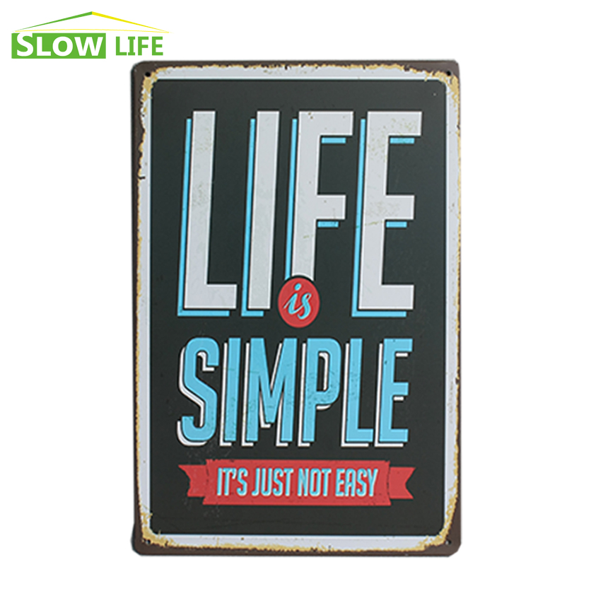 Wholesale Life Is <font><b>Simple</b></font> Vintage <font><b>Home</b></font> <font><b>Decor</b></font> Tin Sign 8