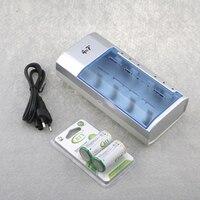 2PCS 4000mAh 1.2V HR14 Size C Ni MH Rechargeable Batteries and 1PC 4 Slots C Size Battery Charger ( Rechargeable Battery Set)