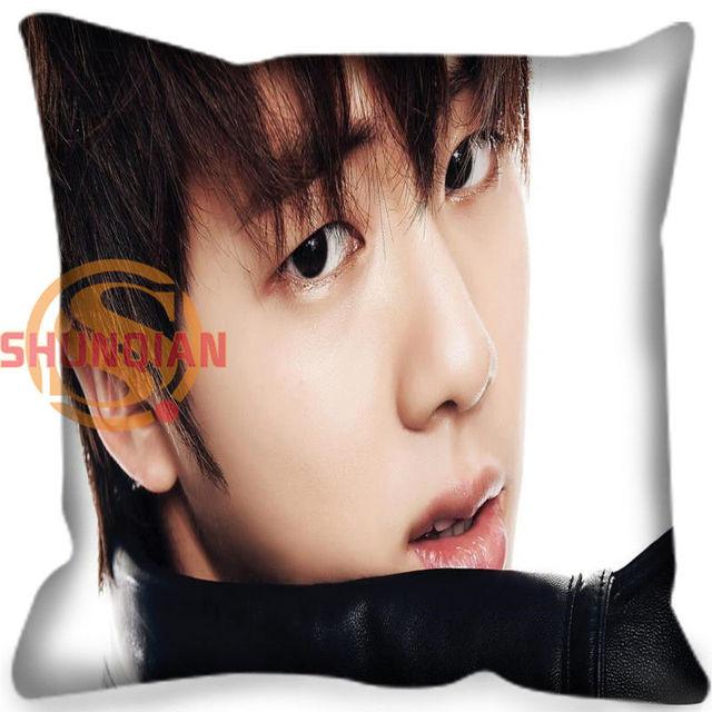 High Quality BTS  Bangtan Boys Style throw Pillowcase Square Zippered Pillow Cover Custom Gift H@0209-89