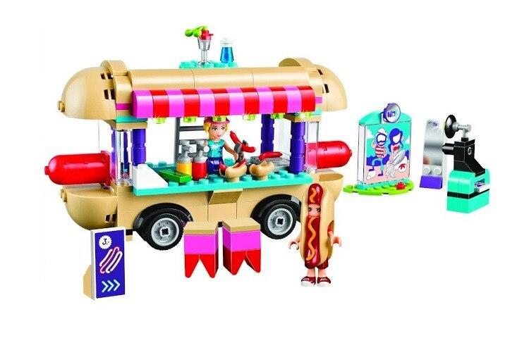 Bale 10559 Fille Ami Amusement Parc Chaude Chien Van Building Blocks set Enfants Briques Cadeau Jouets Compatible 41129