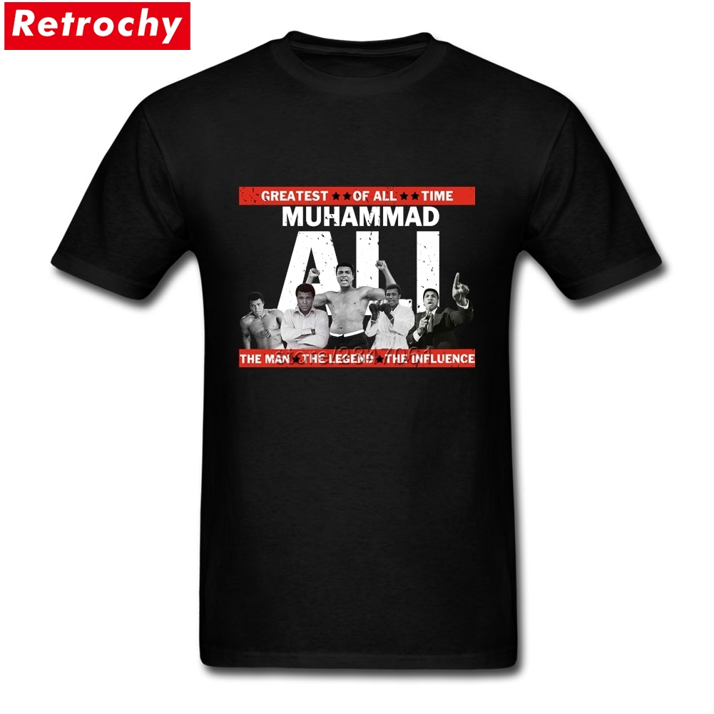 Luxury Brand Design Muhammad ali apparel T Shirts Men Short Sleeved G.o.a.t Tee The Legend Boxing Champion T-shirts
