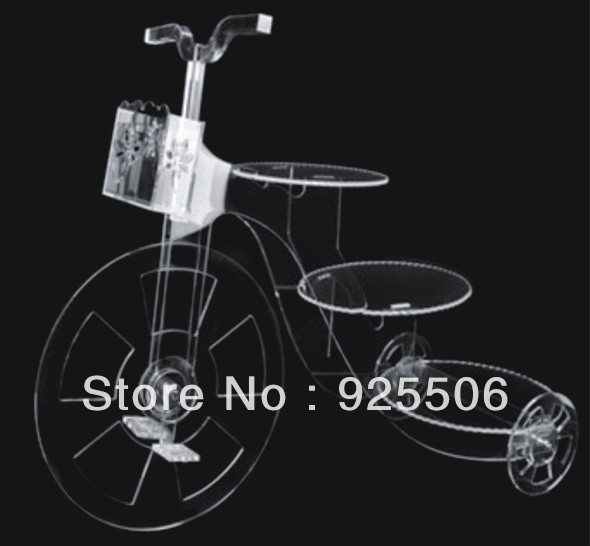 bike wedding cake stand bicycle shape 3 tier acrylic wedding cake stand in stands 11761