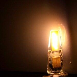 Регулируемая Мини G4 LED COB лампа 6 Вт лампа AC DC 12 В 220 В свеча силиконовые огни заменить 30 Вт 40 Вт галогенная люстра-прожектор
