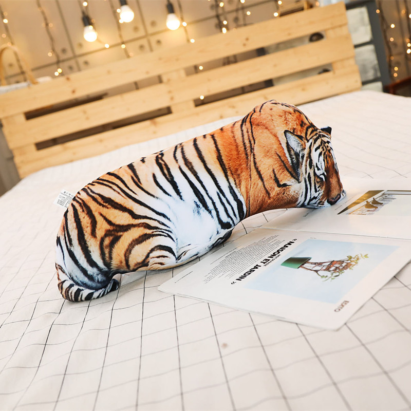 Hot 1pc 50 70cm Simulation 3D Plush Cat Tiger Pillows Soft Stuffed Animals Cushion Sofa Decor Cartoon Plush Toys for Childr in Stuffed Plush Animals from Toys Hobbies