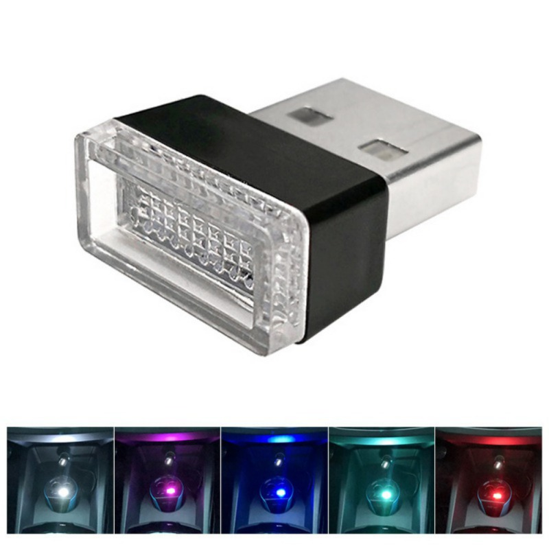Car USB LED Atmosphere Light Decorative Lamp Emergency Lighting Universal PC Portable Plug And Play Red/Blue/White