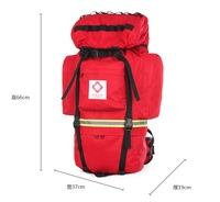 New arrival 2pcs a lot medical rescue backpack first aid kit emergency Sanitary Surgeon Disposal trauma bag
