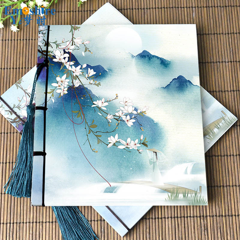 Note book Manufacturers Chinese Notebook Retro Creative Stationery Custom Wholesale Paper Book Diary Notepad N049 emoshire 4 set of notebooks stationery creative gift bag chinese style retro memo pad diary note book notepad n059