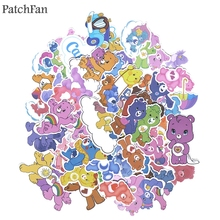 Patchfan 53pcs care bears Creative badgesDIY decorative stickers Cartoon for DIY PC wall notebook phone scrapbooking album A1384