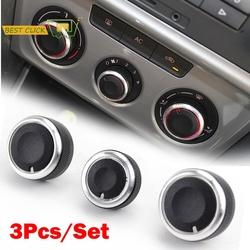 For Skoda 1Z Octavia Laura MK2 II Car A/C Heater Climate Control Switch Knob Knobs Air Conditioner Buttons Dials Cover