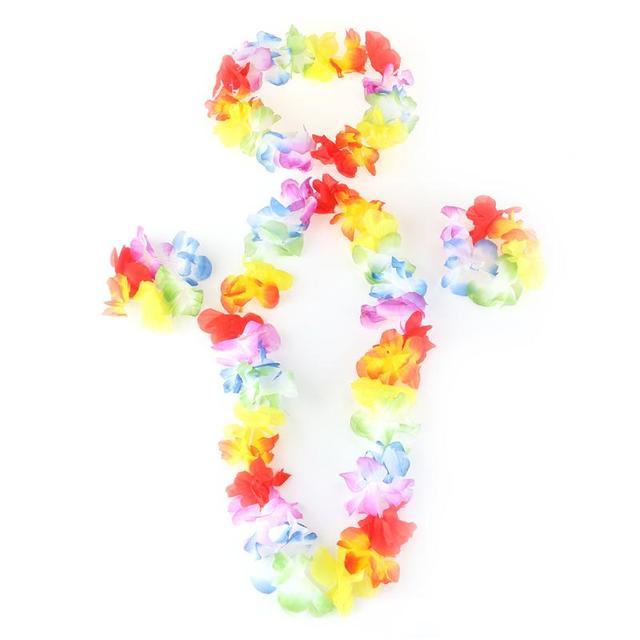4pcs hawaiian ruffled simulated silk flower leis children adult 4pcs hawaiian ruffled simulated silk flower leis children adult clothing hula dance costume mightylinksfo Image collections