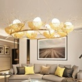 Птичье гнездо  светодиодные подвесные светильники  Современная Подвесная лампа  скандинавские светильники для спальни  ожидающие освещени...