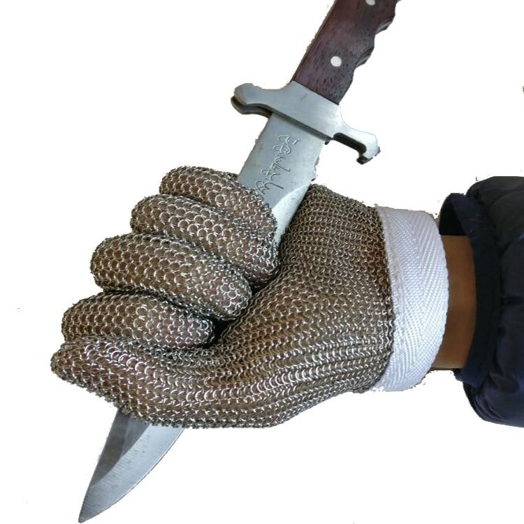 Work Gloves Stainless Steel Wire Mesh Gloves-Cut Resistant, Safety Work gloves (one piece) 10 pair safety cut proof stab resistant stainless steel wire metal mesh butcher gloves cut resistant working safety