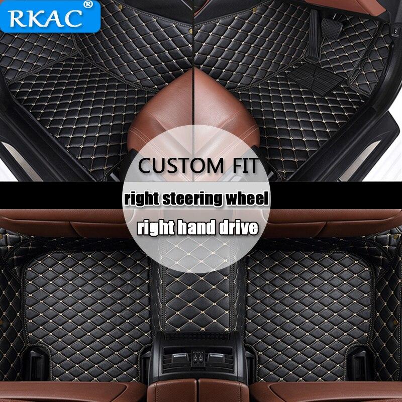 RKAC For right hand drive Custom FIT car floor mats for Isuzu all models JMC D MAX mu X car styling auto accessories