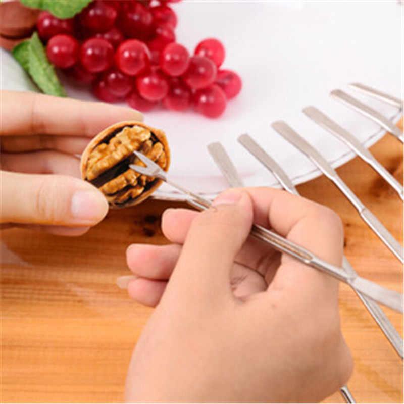 สแตนเลสสตีลมะกอกปูกุ้งก้ามกรามส้อม Picks Handy Helper Nutcracker ครัวผลไม้เชอร์รี่ Picks วอลนัท Forks