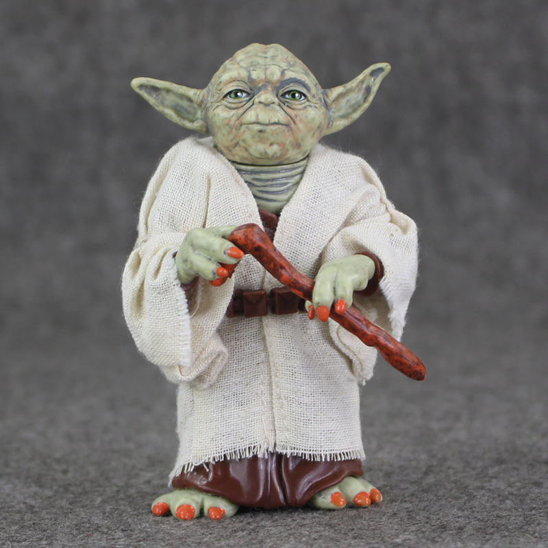 Star Wars Jedi Knight Master Yoda PVC Action Figures Toys Collection Brinquedos Great Gifts for Kids  5 12cm светильник светодиодный 3dlightfx star wars yoda face 3d