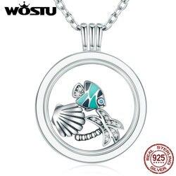 Лидер продаж 100% 925 Чистое серебро плавающее Средний ожерелья кулон в форме 7 Стильная обувь Petite подвески для Для женщин DIY ювелирных CRF001