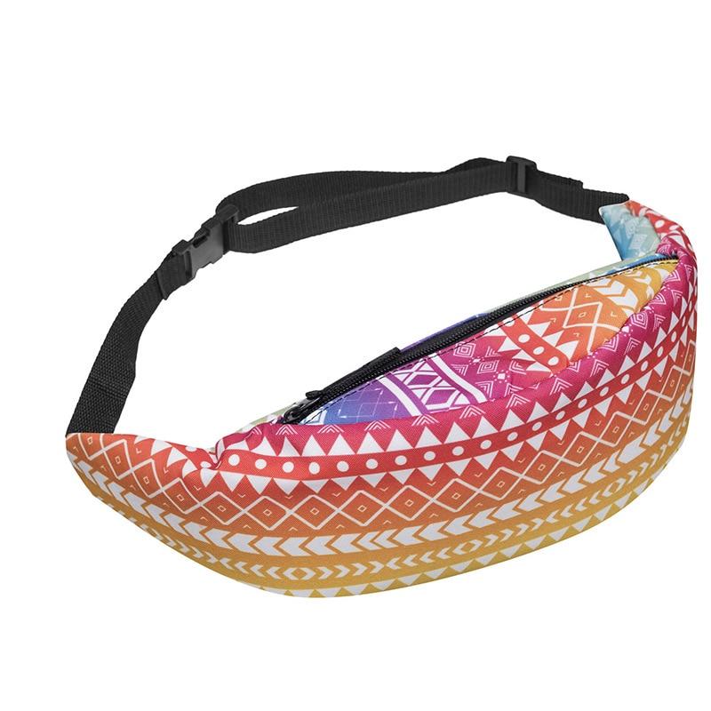 New Flamingo Waist Bag Back Full Bandana Black 3D Unicorn Printing Fashion Waist Bag Women Fanny Packs Belt Bum Bag Waist Packs