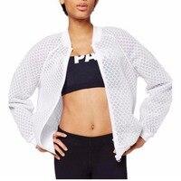 2018 Summer Sexy Women Bomber Jacket Ivy Park White/Black Long Sleeve Perspective Windbreaker Coat baseball jacket Y040